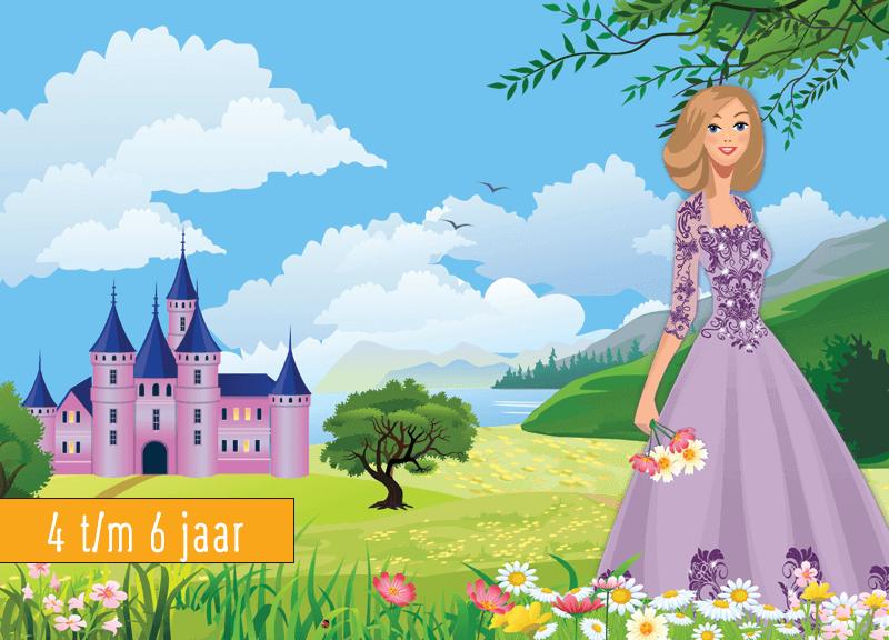 Verbazingwekkend Prinsessen kinderfeestje 4 t/m 6 jaar - 4tot12 Kinderfeestje thuis AB-27